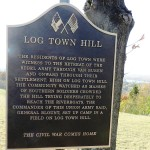 Historica Marker at Log Town Hill, Van Buren, Arkansas